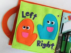 NEW Left Hand Right Hand Handmade Quiet by RoseInBloomCreations