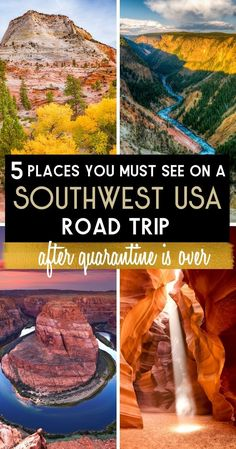 5 Places You Must See on a Southwest USA Roadtrip After Quarantine is Over - - Come along with adventurer Diego Maloney as he explores the great American attractions and amazing landscapes as he takes a roadtrip thru the West. Road Trip Usa, Arizona Road Trip, Road Trip Packing, Road Trip Essentials, Road Trip Hacks, Travel Packing, Usa Trip, Usa Travel Guide, Travel Usa