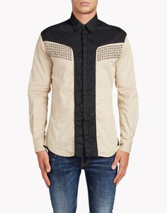 Dsquared2 Studs Shirt, Long Sleeve Shirts Men - Dsquared2 Online Store