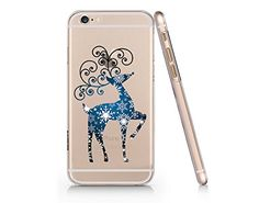 Reindeer Merry ChristmasTransparent Plastic Phone Case fo...