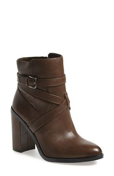 """Vince Camuto 'Gravell' Belted Boot (Women) available at #Nordstrom, I want this bootie in """"russet suede"""" for fall!"""