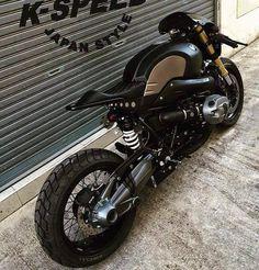 BMW R nine T custom cafe racer Custom Bmw, Custom Cafe Racer, Cafe Racer Bikes, Cafe Bike, Custom Bikes, Cafe Moto, Gs500, Nine T, Bmw Boxer