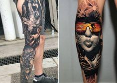 Top 75 Best Leg Tattoos For Men Sleeve Ideas And Designs: Top 75 Best Leg Tattoos For Men Sleeve Ideas And Designs. Sleeve Tattoos Tattoo Ideas For Leg Sleeves Half Tribal. Calf Tattoo Men, Knee Tattoo, Leg Sleeve Tattoo, Sleeve Tattoos For Women, Upper Leg Tattoos, Best Leg Tattoos, Latest Tattoos, Body Art Tattoos, Realistic Fake Tattoos