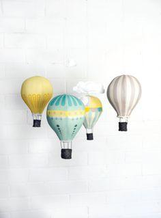 Hot Air Balloon Mobile Kit  Sunshine