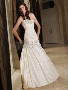 b826cf628e8f Buy 2014 Sweetheart Wedding Dress Sheath Pleated Bodice Beaded Bust Chapel  Train Taffeta Lace Up Online