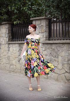 Jungle on me  #jungle #dress #fashion #print #casual #outfit #retro
