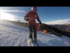 Skiing exercise, how to use knees more, edging, sliding for intermediate skier - YouTube