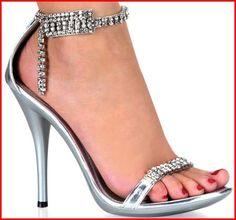 "Pleasers Womens Dress Shoes Big Rhinestones Dress Shoe 4.75"""