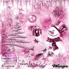 Pink Xmas card