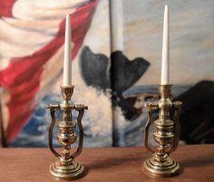 Ron Stetkewicz', IGMA fellow -  Brass Ship Candle Holders