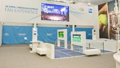 US Open American Express Fan Experience. Clever marketing showing the benefit of being a cardmember. #mkm815 #amex #marketing