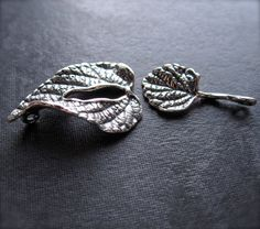 Sterling Silver  Forest Leaf  toggle clasp  by lilysoffering