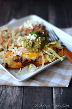 Drooling over these Shredded Beef Enchiladas from CookingwithCurls.com! #recipes #beef