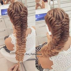 Hair Styles – Hair Care Tips and Tricks Girly Hairstyles, French Braid Hairstyles, Creative Hairstyles, Wedding Hairstyles, Brunette Hairstyles, Competition Hair, Hair Upstyles, Pinterest Hair, Braids For Long Hair