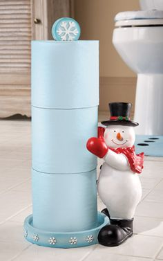 Frosty Friend Snowman Toliet Paper Holder