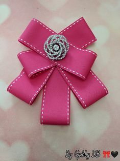 Pink Bow Brooch By: Gabby DB