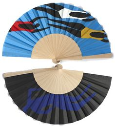 Emanuela Ligabue's artwork is so gorgeous. Her hand-painted fans and books are lovely