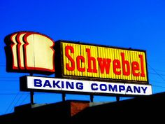 Schwebel Baking Company Sign on Midlothian Boulevard in Youngstown, Ohio. Youngstown Ohio, Akron Ohio, Oh My Home, My Ohio, Baking Company, Roadside Attractions, Pittsburgh Pa, Great Memories, Vintage Signs