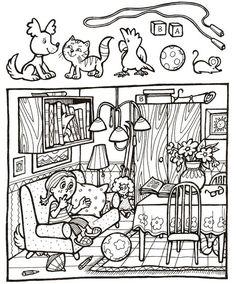Zoek de voorwerpen op de plaat Preschool Worksheets, Kindergarten Activities, Preschool Activities, Hidden Pictures Printables, Hidden Picture Puzzles, Hidden Objects, Color Activities, Speech And Language, Teaching Kids
