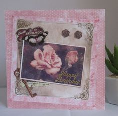 Geburtstagskarte Rosen, Handgemacht von KartengalerieDoris auf Etsy Lettering, Ants, Happy Birthday, Frame, Home Decor, Pink, Handmade Birthday Cards, Worth It, Nice Asses