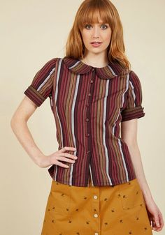 How Very Heartwarming Button-Up Top, @ModCloth