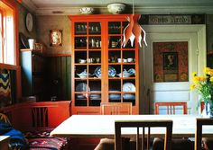 Carl Larsson's Dalecarlia Home Kitchen finished in 1890.
