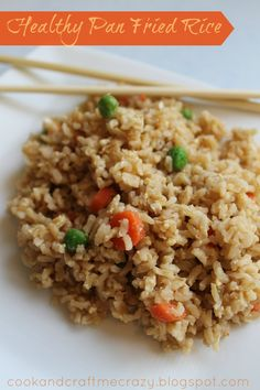 Healthy Pan Fried Rice  http://cookandcraftmecrazy.blogspot.com/2013/03/healthy-pan-fried-rice.html
