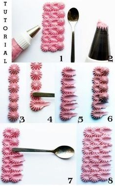37 Ideas For Cake Decoration Icing Frosting Techniques Icing Tips, Frosting Tips, Frosting Recipes, Buttercream Ideas, Buttercream Cake, Cake Piping, Cake Decorating Techniques, Cake Decorating Tutorials, Cookie Decorating