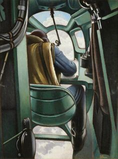 Bomber Navigator, by Keith Henderson. Date painted: 1940 Military Art, Military History, Spa Art, Art Transportation, Glasgow Museum, Battle Of Britain, Art Uk, Aviation Art, Dieselpunk