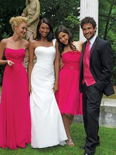 floor length bridesmaid gowns - Click image to find more Weddings Pinterest pins