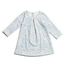 Aspen Baby Dress - Woodland Winter Blue