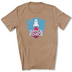 Space Force Blast Off T-Shirt - Heather Tan / L