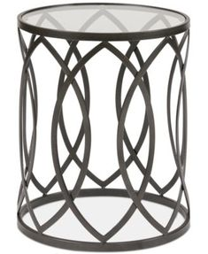 End & Side Tables Round Coffee Tables - Macy's Round End Tables, Round Coffee Table, Side Tables, Black Accent Table, Family Room Design, Funky Furniture, Geometric Designs, Metal, Glass