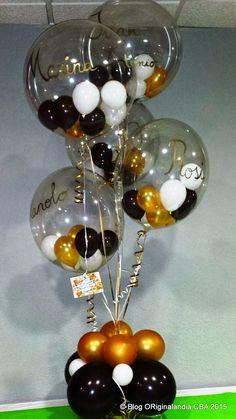 ORiginalandia  CBA: Regalo para una madre Balloon Arrangements, Balloon Centerpieces, Balloon Decorations, Birthday Decorations, Balloon Ideas, 70th Birthday Parties, Mom Birthday, Balloons Galore, Champagne Party