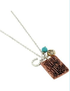 "The Rustic Shop - ""Heck Yes"" Rowdy Cowgirl Quote Coppertone Pendant Necklace, $14.99 (http://www.therusticshop.com/heck-yes-rowdy-cowgirl-quote-coppertone-pendant-necklace/)"