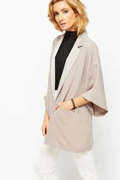 Oversized Open Front Blazer @ Everything5pounds.com