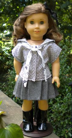 Reserved Sailor top and skirt for 18 inch dolls by mydollyscloset1