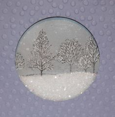 Snowglobe card with glitter