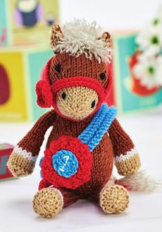 Free Toy Knitting Pattern for Theodore the Horse Amigurumi Knitting For Charity, Free Knitting, Animal Knitting Patterns, Crochet Patterns, Fluffy Blankets, Horse Crafts, Knitted Animals, Knitting For Beginners, Stuffed Toys Patterns