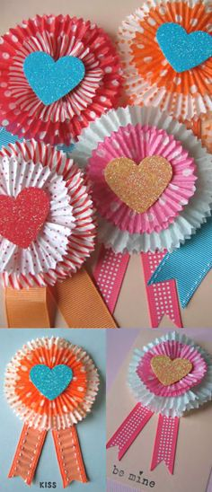 Party DIY ● Cupcake Liner Valentine's Day Cards or Decorations