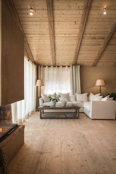 View the full picture gallery of San Luis - Private Retreat Hotel & Lodges Chalet Interior, Home Interior Design, Cabin Interiors, Wooden House, Cabin Homes, House In The Woods, My Dream Home, Home Fashion, Living Spaces