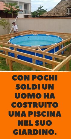 Backyard Patio, Outdoor Pool, Outdoor Spaces, Above Ground Pool, In Ground Pools, Piscina Intex, Pool Deck Plans, Swimming Pool Decks, Small Pool Design
