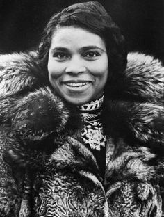 Marian Anderson, the elegant and groundbreaking contralto who was the first African American to sing at the Metropolitan Opera.
