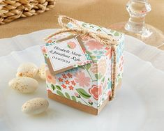 """""""Vintage Floral"""" Favor Box (Set of 24) (Available Personalized) from Kate Aspen"""