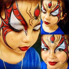 ansiktsmålning The Effective Pictures We Offer You About kids halloween activities A quality picture Spider Face Painting, Superhero Face Painting, Face Painting For Boys, Body Painting, Face Painting Tutorials, Face Painting Designs, Paint Designs, Kids Makeup, Boy Face