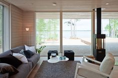 PlusVilla leisure home Completed in 2011 Customer: A family of four Area: approximately 124 Location: Southern Finland Principal designer: PlusAr Home Living Room, My Ideal Home, House, Home, Cottage Homes, Cottage Renovation, Box Houses, Prefab Homes, House Interior