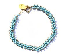 Armband turquoise kralen Petra Reijrink
