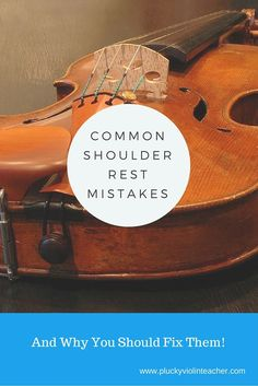 Do your students struggle to hold their violins? They may be making these common shoulder rest mistakes!