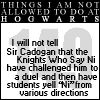 150 Things I Am Not Allowed To Do At Hogwarts