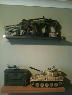 Hit Army surplus stores and Charity shops for old army items to add to your Army bedroom design